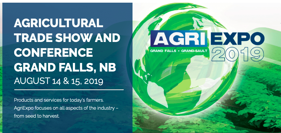 AgriExpo 2019 to be held August 14 – 15 in Grand Falls, N B  - Spud