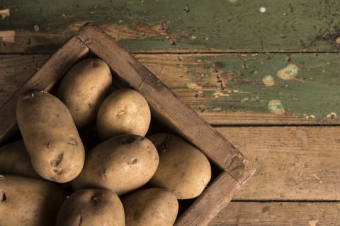 box of potatoes
