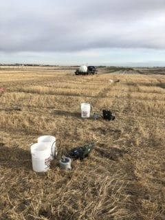 Soil sampling at the Lethbridge Research and Development Centr