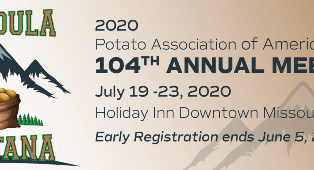 Potato Association of America 2020 meeting banner