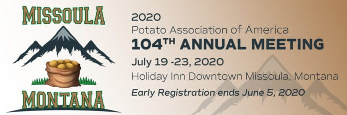 Potato Association of America 2020 meeting banner