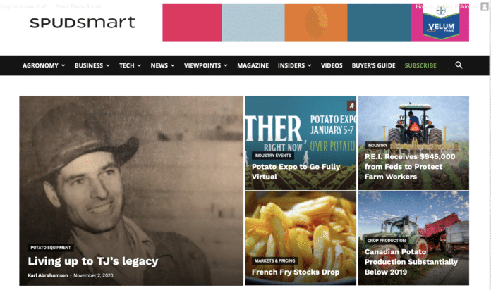 Spud Smart home page