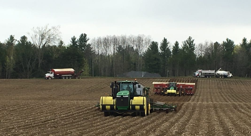 Potato planting at H. J. Vander Zaag Farms Ltd.