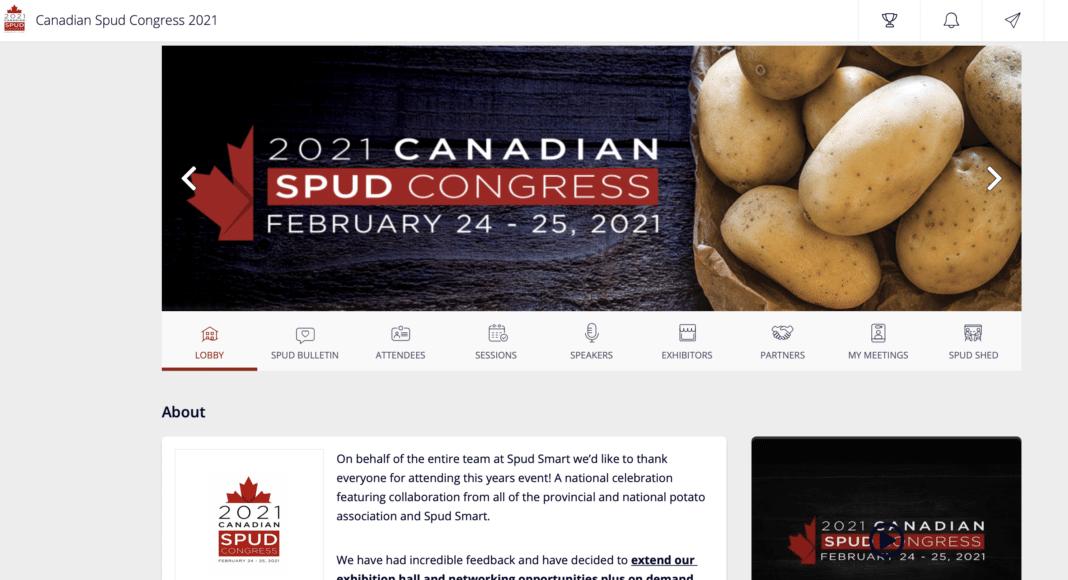 Canadian Spud Congress virtual platform