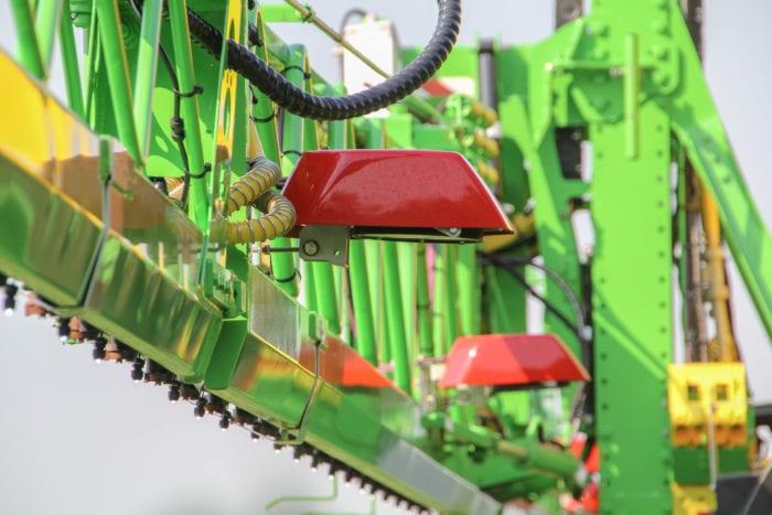 Crop sensor on sprayer