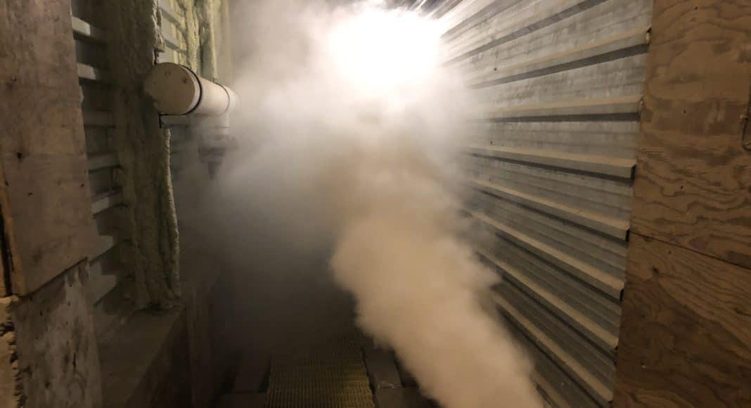 CIPC fogging a potato shed