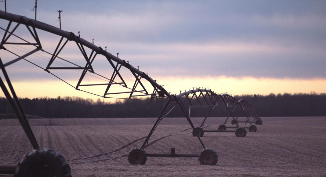 Irrigation system in a field